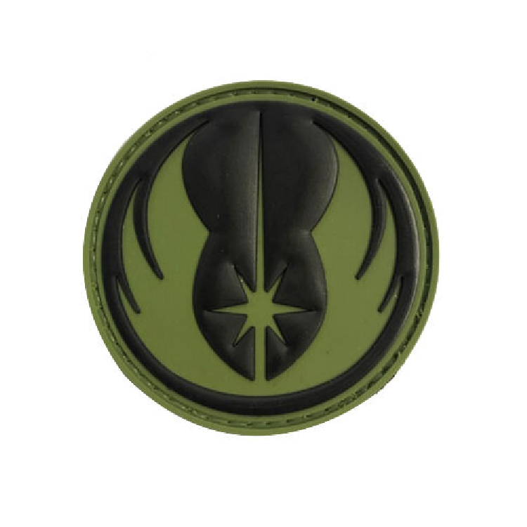 Jedi Black And Green Tactical Rubber Patch